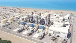 The Musandam Independent Power Project (IPP) is a 120-MW natural gas-fired facility in a fast-growing region of Oman. The plant was inaugurated in November 2017. Though natural gas is its primary fuel, it also can operate on light fuel oil. The plant will burn associated gas from nearby oil and gas wells, gas that otherwise would be flared. Courtesy: Oman Oil Company