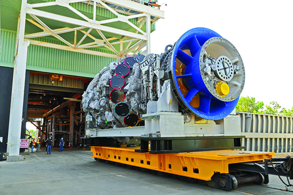 Figure 1 - GE POWER - 9HA Gas Turbine at GE's validation test stand