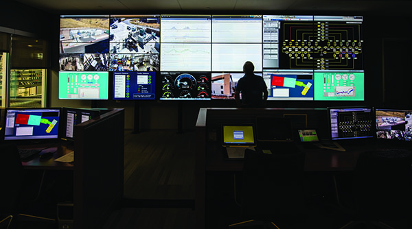 October24, 2016 - The control room at the Energy Systems Integration Facility (ESIF) at the National Renewable Energy Laboratory in Golden, CO. (Photo by Dennis Schroeder / NREL)