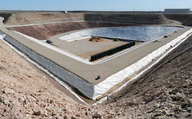 Operational since spring of 2012, the Texas Compact Waste Facility (CWF) is owned and licensed by the State of Texas, operated by Waste Control Specialists. The WCS facility in western Andrews County is the only commercial facility in the United States licensed to dispose of Class A, B and C Low-level Radioactive Waste (LLRW) in the past 40 years. Courtesy: WCS