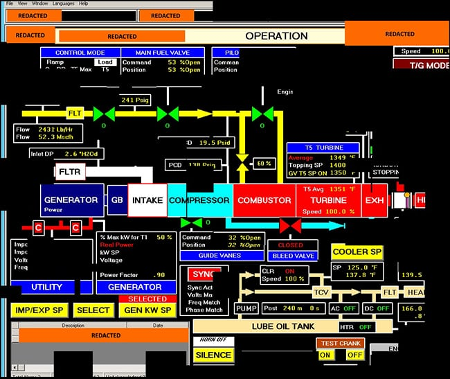The threat is inside. US-CERT on March 15 warned that threat actors associated with the Russian government had infiltrated ICS and SCADA systems at power plants using a variety of tactics. This image is a DHS reconstruction of a screenshot fragment of a human machine interface (HMI) that the threat actors accessed. Source: US-CERT