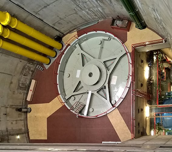 Generator at the pumped storage power plant Vianden in Luxembourg. Courtesy: Voith