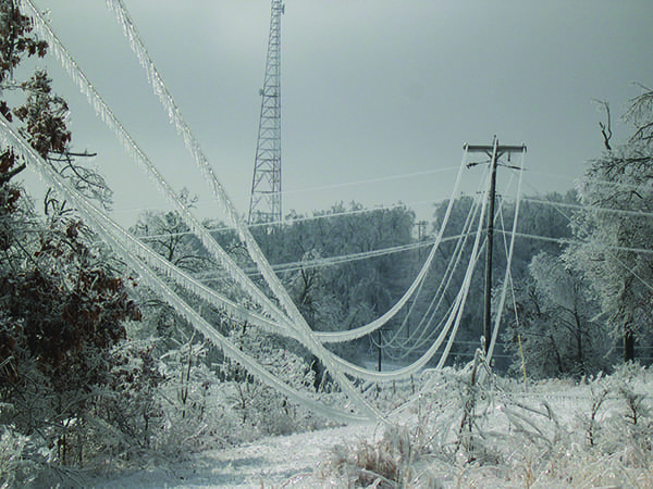 Figure 3 - frozen power lines