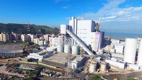 Linkou Thermal Power Plant is a three-unit plant owned by Taiwan Power Co. Units 1 and 2, went online in October 2016 and March 2017, and Unit 3, will come online in 2019. Courtesy: MHPS