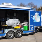 SPX Cooling Technologies Inc. has outfitted an 18-foot mobile trailer with displays of field-erected cooling tower components.